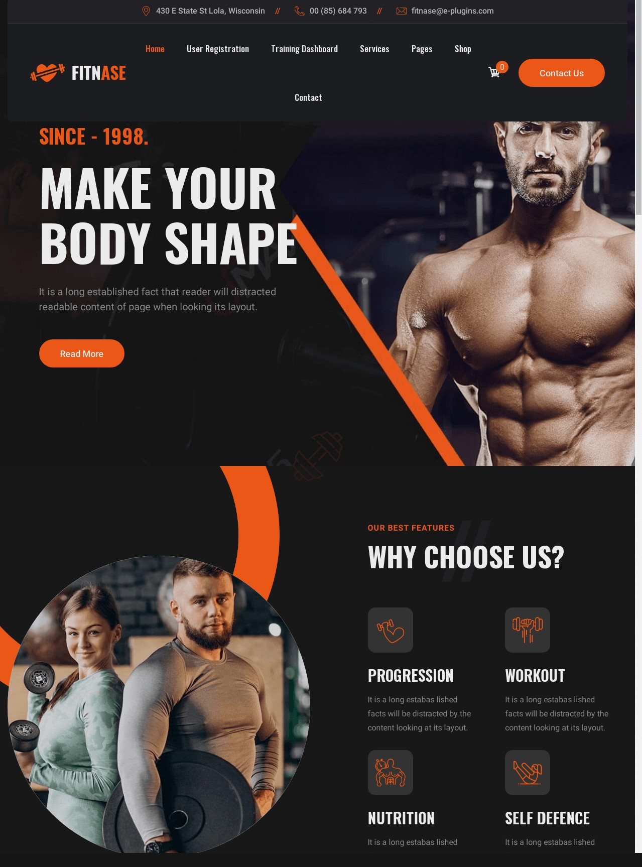 Fitnase  Gym And Fitness WordPress Theme