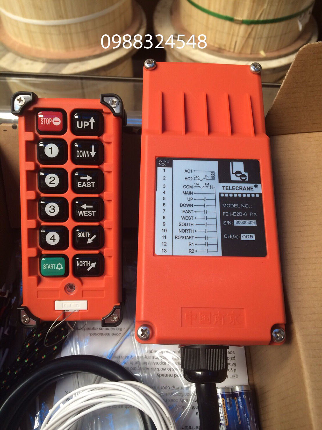 Điều khiển từ xa Telecrane F21-E2B-8 RX