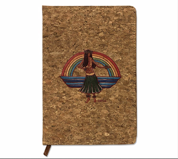 hula journal by tropical hawaii artist heather brown