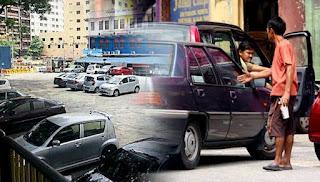 Ulat parkir `naik minyak' di KL