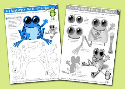 Bug Belly crafts, making tree frogs
