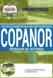 Apostila COPANOR Agente de Saneamento especialidade de Operador de Sistemas - COPASA-MG.