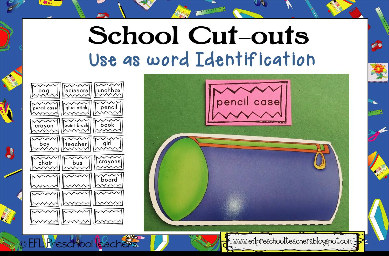 ESL/EFL Preschool Teachers: More School Theme Activities for the ELL