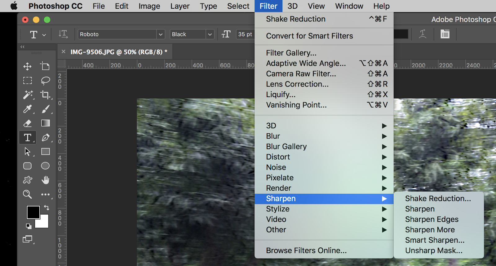 Photoshop Filter Shake