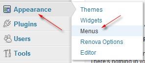 menu wordpress