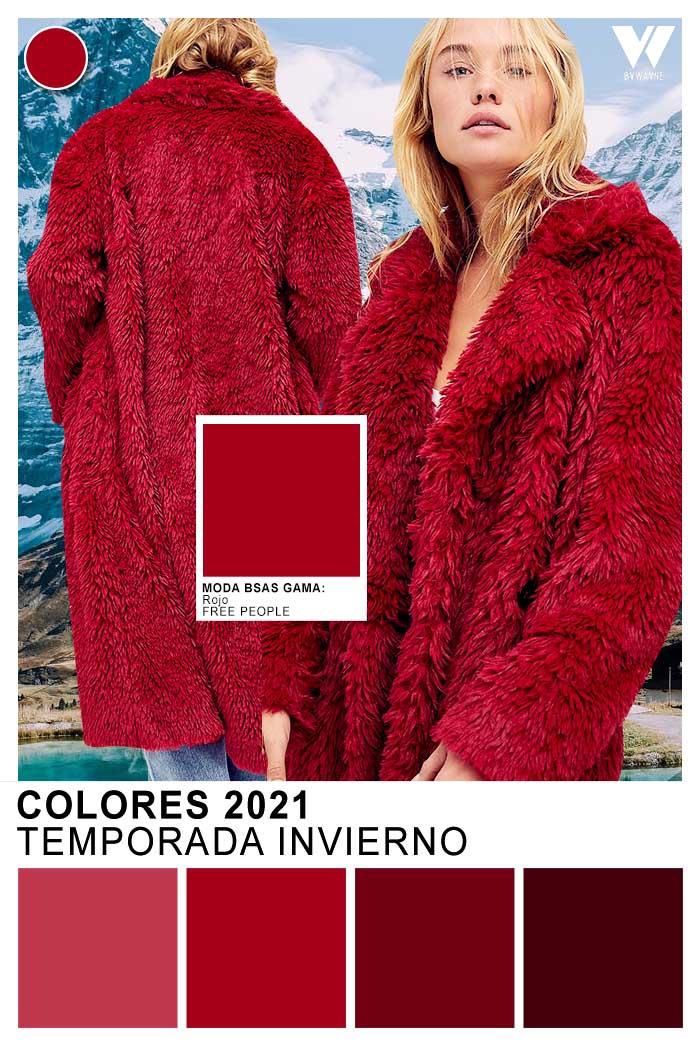 Colores 2021 rojo color de moda invierno 2021 colores