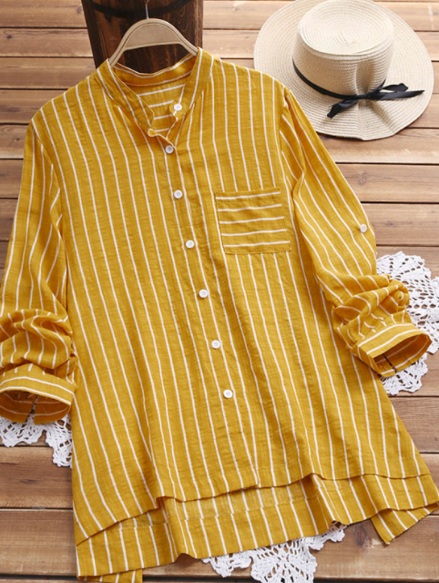 Yellow shirt blouse for girls