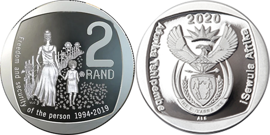 South Africa 2 rand 2020 - Freedom and security of the person
