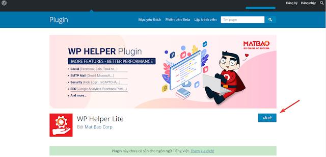 Mắt Bão trình làng Plugin WordPress đa năng miễn phí - WP Helper