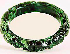 Carved Jadeite Jade Bangle