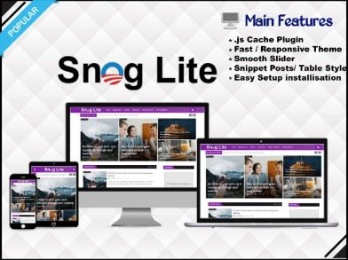 Snog Lite - Responsive & Light Blogger Template