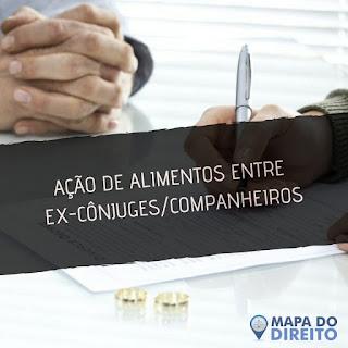 AÇÃO DE ALIMENTOS ENTRE EX-CÔNJUGES/COMPANHEIROS