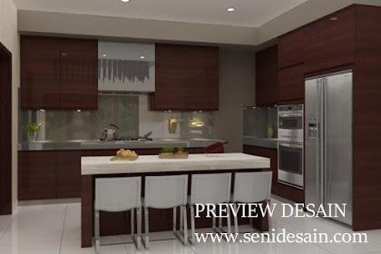 Design 3d pantry style modern minimalis mewah harga murah