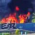 Incendio de un contenedor con 3 bombonas de gas en Guanarteme.