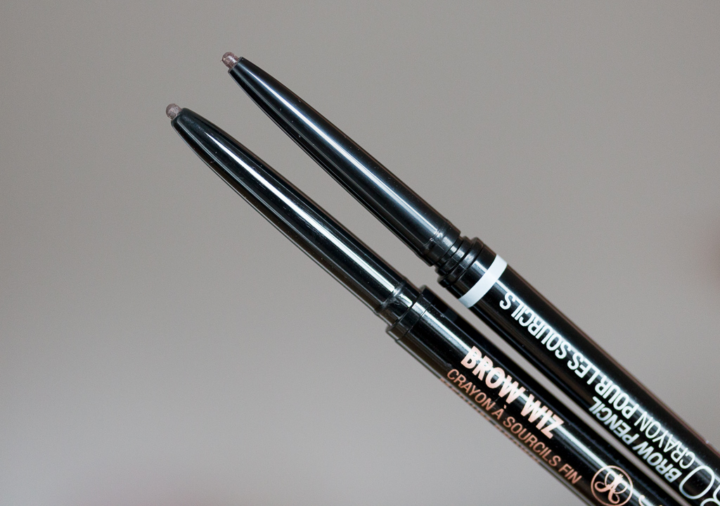 Anastasia Beverly Hills Brow Wiz vs. Nyx Micro Brow Pencil Vergleich Stiftmine