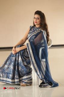 Actress Manjusha Pictures in Saree at Srirastu Subhamastu Song Launch  0193.JPG