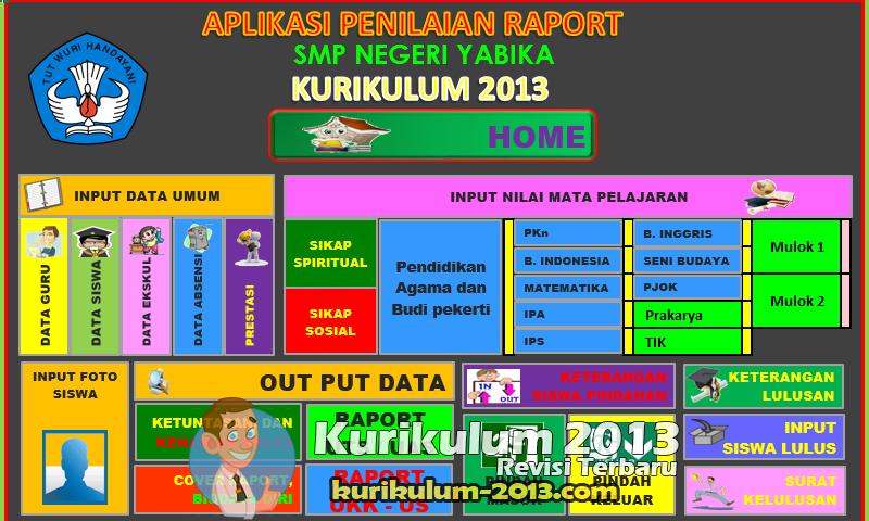Download Contoh Raport SD Kurikulum 2013 Sesuai Permendikbud Versi Revisi