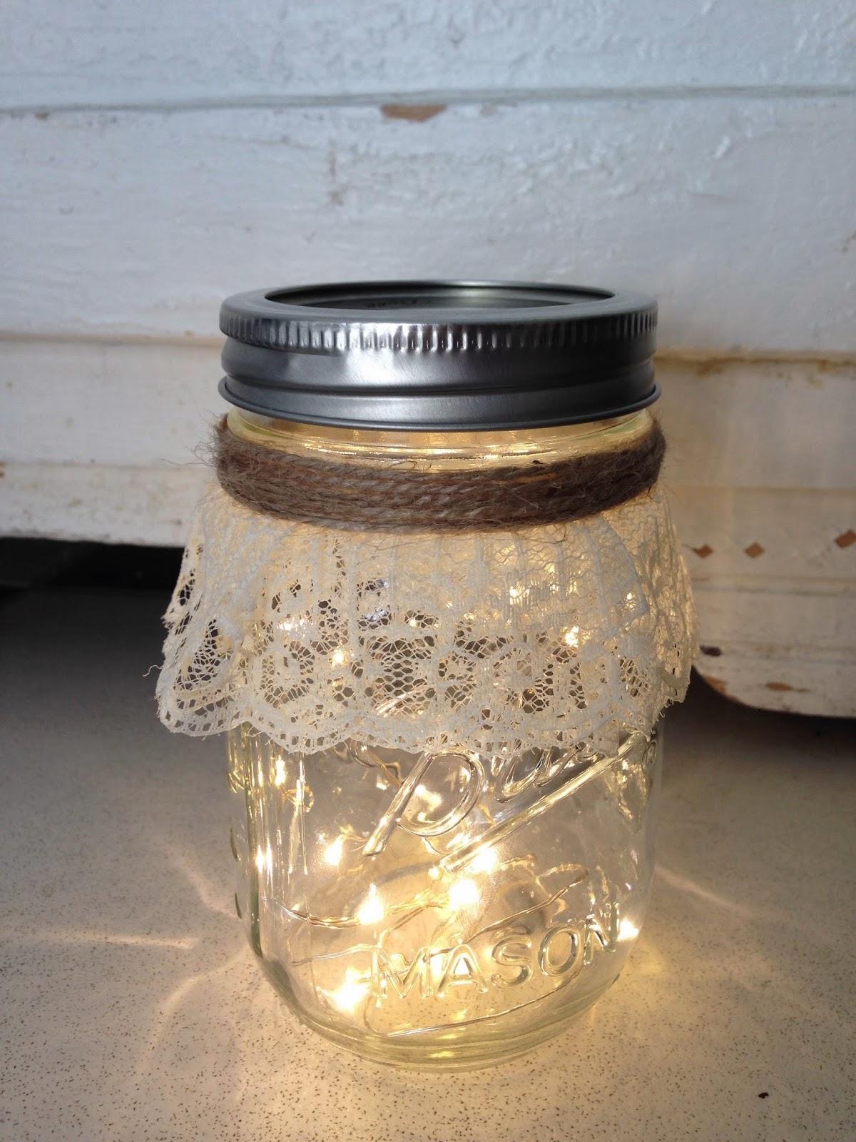 Life As A Junicorn Diy Fairy Light Mason Jar Nightlight