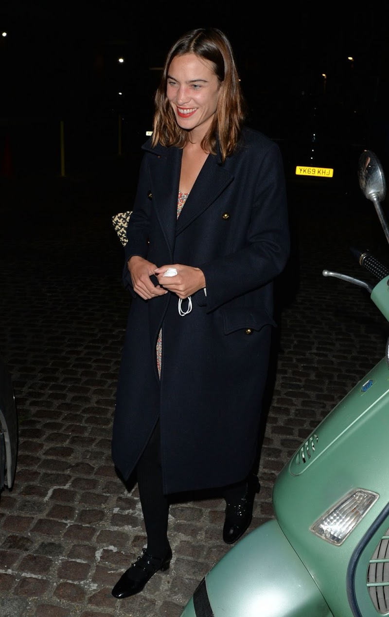 Alexa Chung Leaves Chiltern Firehouse in London 17 Sep- 2020