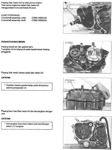 Panduan Cara Merakit Mesin Tiger 2000, Tiger Revo, Honda GL