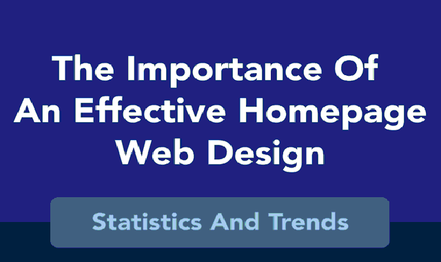 The Importance of An Effective Homepage Web Design – Statistics And Trends #infographic