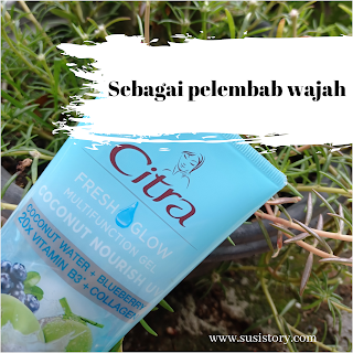 fungsi citra fresh glow multifunction gel coconut