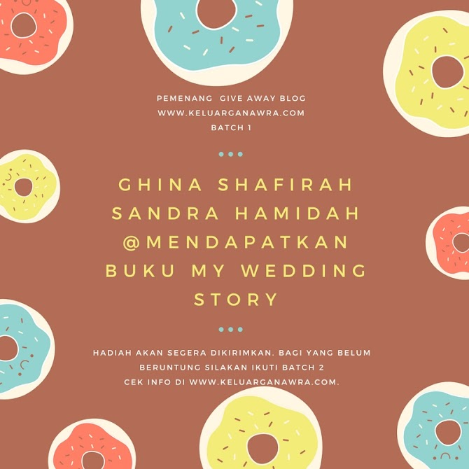 Pemenang Buku GRATIS MY WEDDING STORY Batch 1