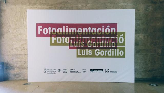 """Portada de la exposición """"Luis Gordillo. Fotoalimentación"""". Centre del Carme"""