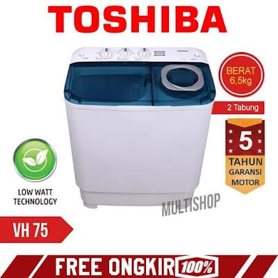 Mesin cuci Thosiba 6.5 kg VH - H75MN
