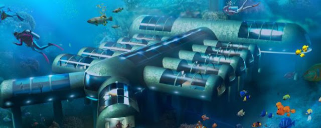 A futuristic underwater hotel in the fight against the disappearance of coral reefs