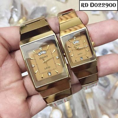 Đồng hồ cặp đôi Rado mặt vuông RD Đ022900