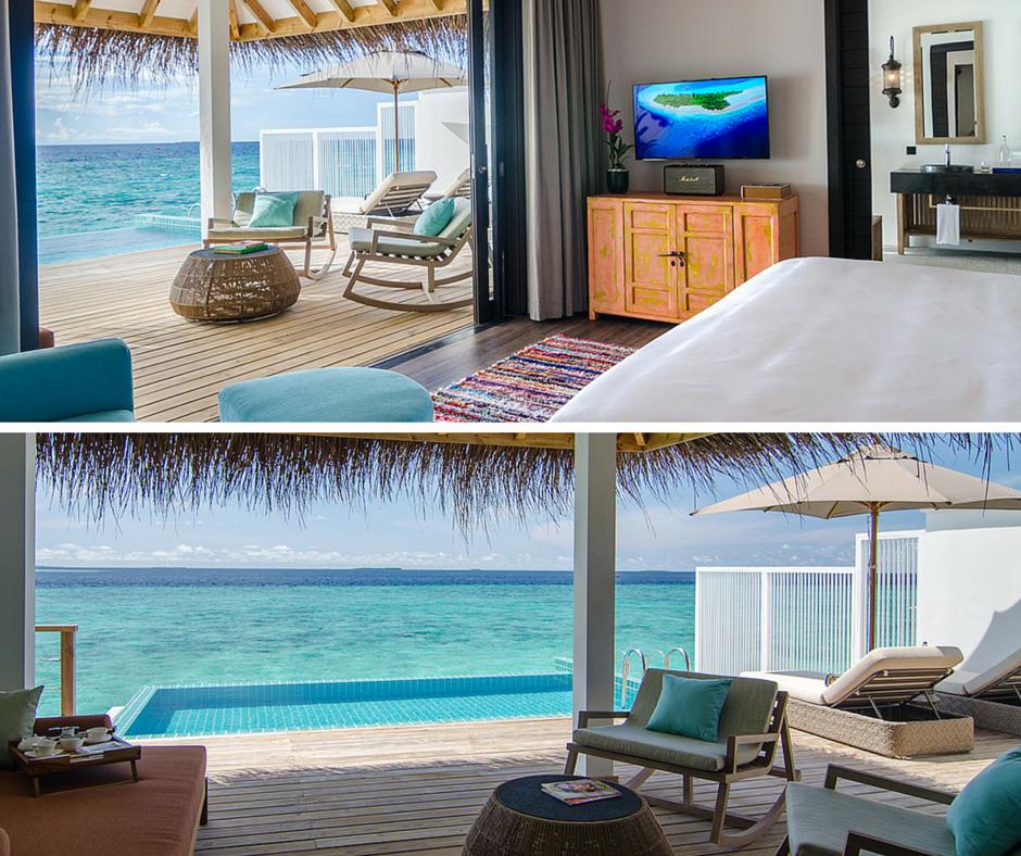 Villa viatges granollers hotel finolhu maldives for Habitaciones sobre el mar
