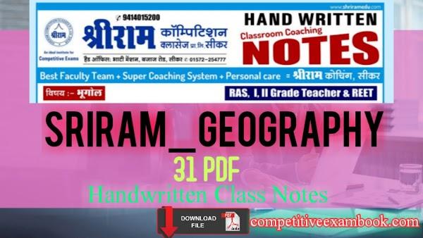 [PDF] SriRam Geography Handwritten Class Notes