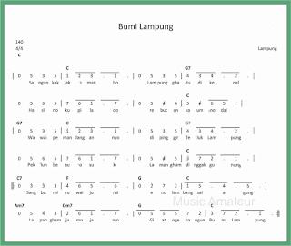 not angka lagu bumi lampung lagu daerah lampung