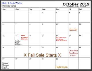 Bath & Body Works | Calendar Updates: Candle Sale, Travel Size Sale & Fall Clearance Sale Begins