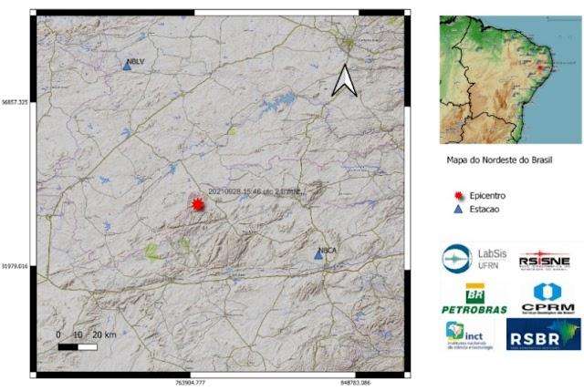 Tremor de terra de magnitude 2.0 foi sentido em Santa Cruz do Capibaribe