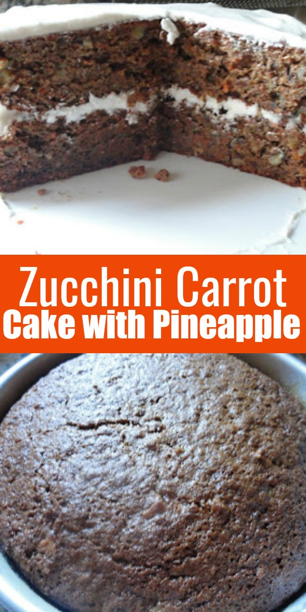 Zucchini Carrot Cake with Pineapple and Cream Cheese Frosting is a favorite dessert recipe from Serena Bakes Simply From Scratch.