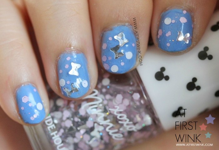 Etude House x Disney: xoxo Minnie nail polish 05 - Minnie Silver Ribbon