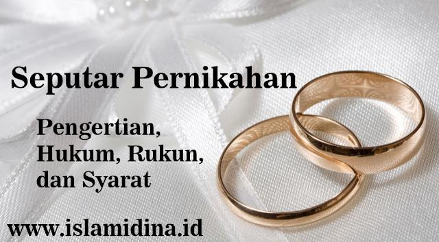 pengertian hukum rukun syarat nikah