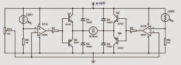 simple solar tracker circuit diagram eee community. Black Bedroom Furniture Sets. Home Design Ideas