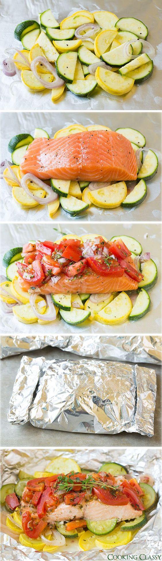 Salmon and Summer Veggies