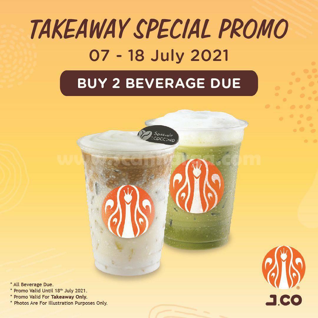 JCO Takeaway Special Promo - Beli dua minuman ukuran Due hanya 52K!