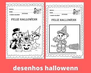 Desenhos de hallowenn para colorir e imprimir