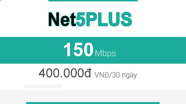 Gói Cáp Quang Viettel Net5 Plus