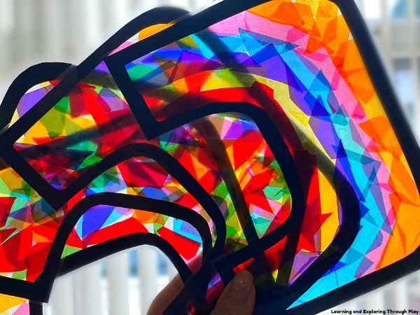 Rainbow Suncatcher Craft