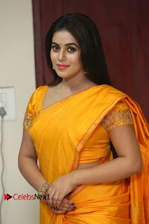 Actress Poorna Pictures in Saree at Avanthika Movie Opening  0090