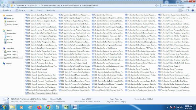 Download kumpulan 107 Jenis Buku Terbaru Administrasi Semua Instansi
