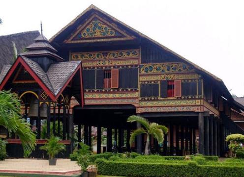 Cara Menggambar Rumah Adat Aceh