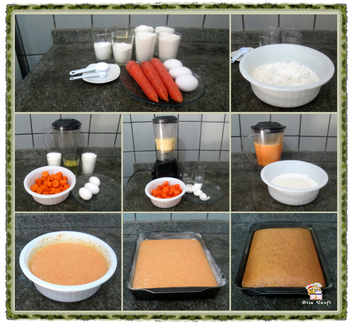 Bolo de cenoura com cobertura de chocolate 2