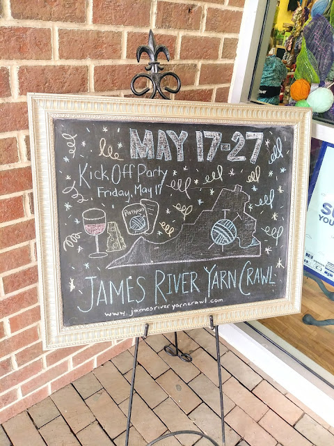 Our second stop on the James River Yarn Crawl was at The Flying Needles in Williamsburg VA